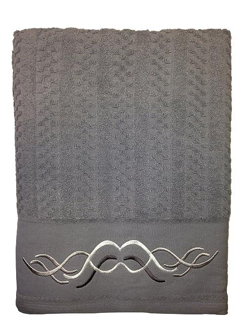 Toalla de rizo Nido de abeja 50x100cm 100%algodón 450gr/m2 y cenefa de