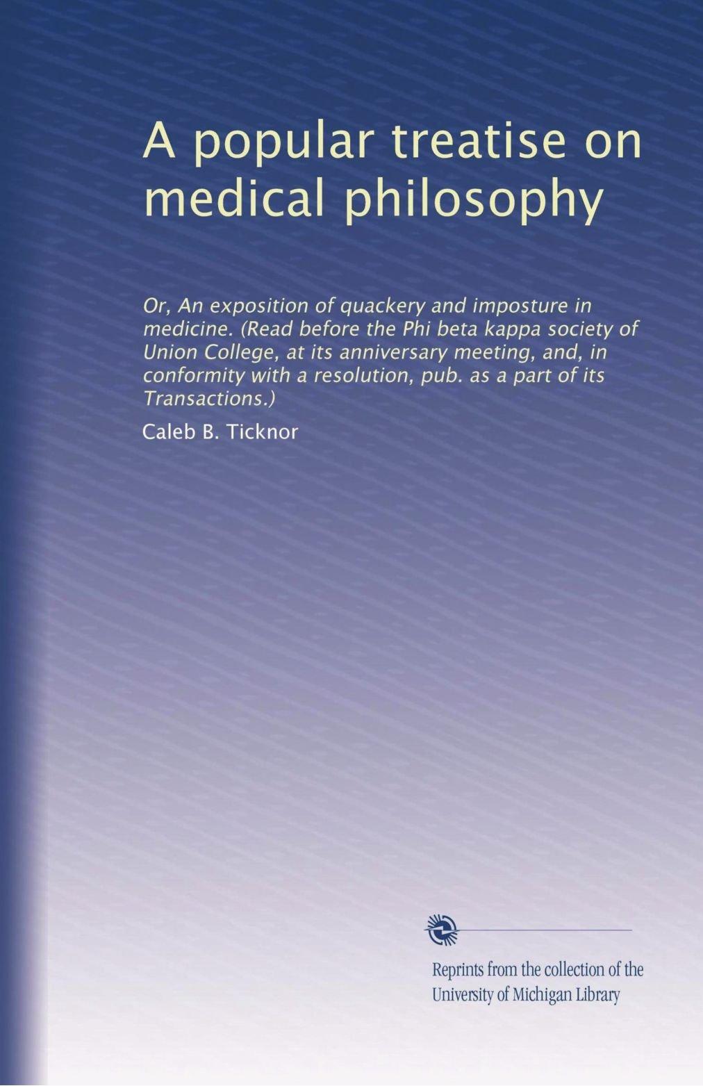 Read Online A popular treatise on medical philosophy pdf