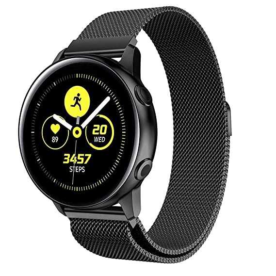 88f71d600 Leefrei Stainless Steel Band 20mm Milanese Loop Replacement Strap  Compatible with Samsung Galaxy Watch (42mm