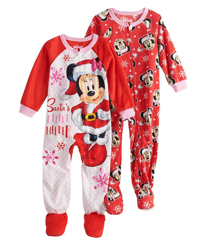 Disney Girls  Toddler Girls  Minnie Mouse 2-Pack Fleece Blanket Sleeper bc553b76e