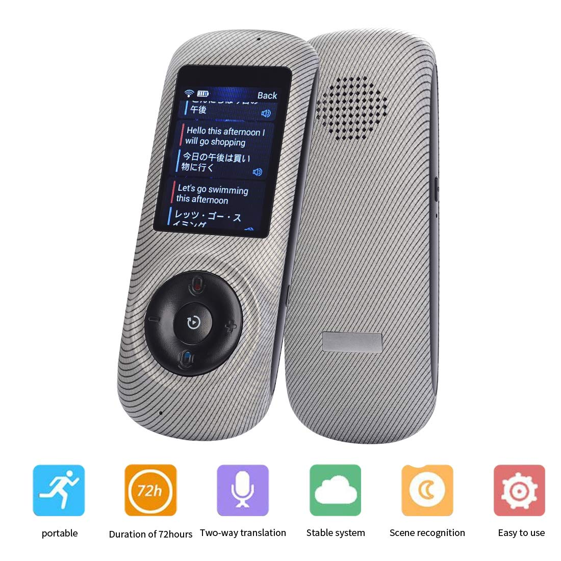 Instant Voice Translator Device Translation 45 Languages Smart 2 Way WiFi 2.4inch IPS Capacitive Touch Screen by Aspiring (Image #1)