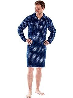 e9969aae1d SaneShoppe Men s 100% Brushed Cotton Paisley Flannel Pyjamas Nightshirt  Gowns M - XXL