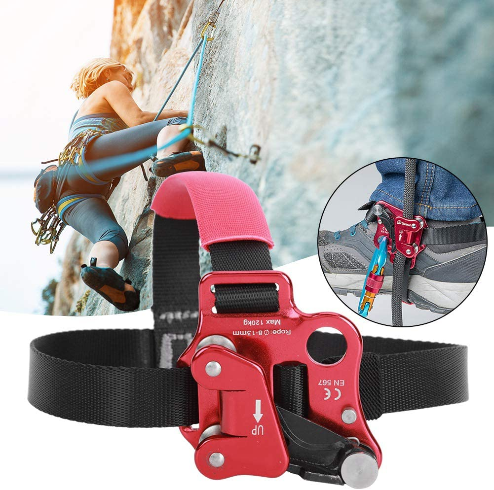 Vbest life Aviation Aluminum Alloy Left//Right Foot Ascender Riser Outdoor Rock Climbing Mountaineering for Rock Climbing Mountaineering