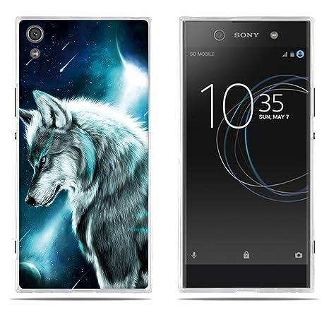 FUBAODA Funda Sony Xperia XA1 Ultra Carcasa de Silicona Transparente TPU Resistente a Los Ara/ñazos en su Parte Trasera,Funda Protectora Anti-Golpes para Sony Xperia XA1 Ultra 6.0