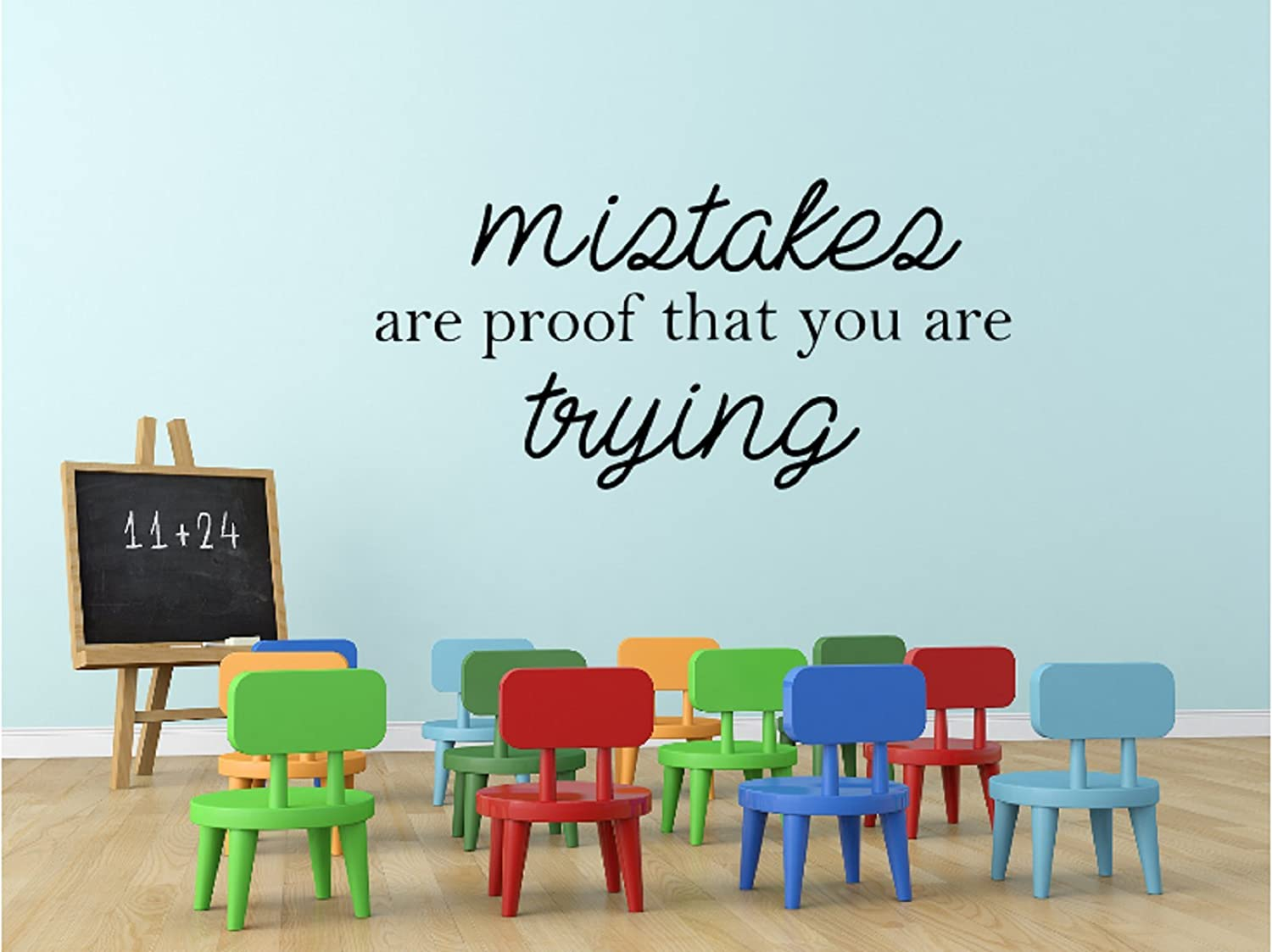amazon com mistakes are proof that you are trying classroom wall amazon com mistakes are proof that you are trying classroom wall decal 22