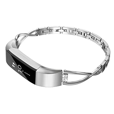 For Fitbit Alta Bracelet Band Silver Stainless Steel Metal Wristband