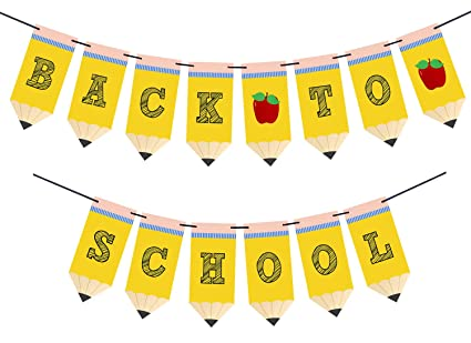 Back to School Pencil Banner - First Day of School Banner - Back to School Banner