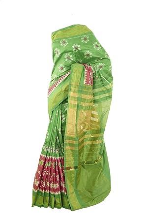 1c40897b9e2149 Mysore Saree Udyog - Saree With Blouse - Ikkat- Patola- Traditional Silk  Pure Soft
