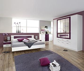ROLLER Schlafzimmer BURANO weiß/Brombeer, weiß: Amazon.de: Küche ...