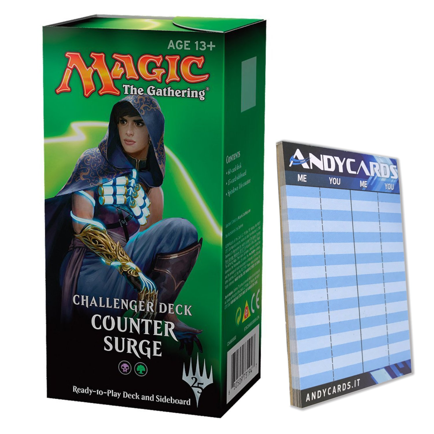 Challenger Deck: COUNTER SURGE in ENGLISH - Black Green - MTG Magic The Gathering + Andycards Scorepad