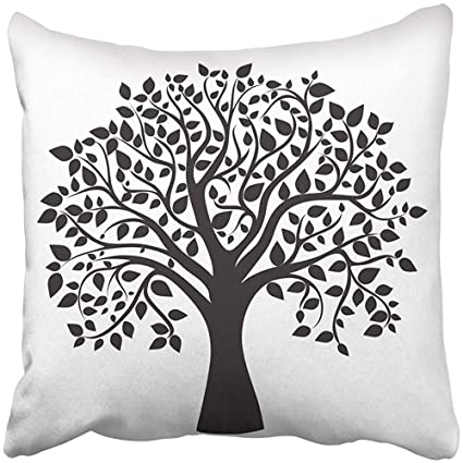 Amazon Com Throw Pillow Cover Square 18x18 Inches Green Life Black