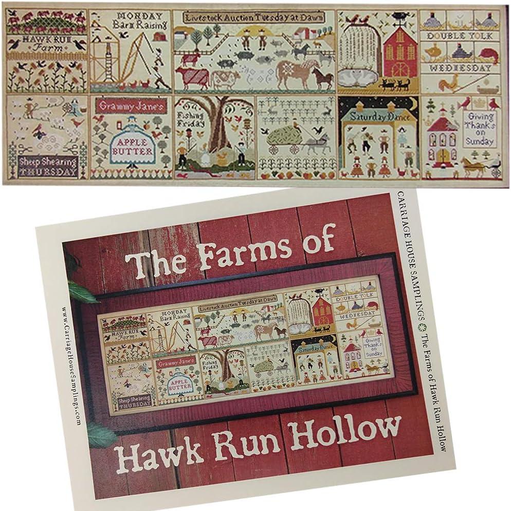 Halloween at Hawk Run Hollow Counted Cross Stitch Pattern Plus Decorative Needleworker Magnet