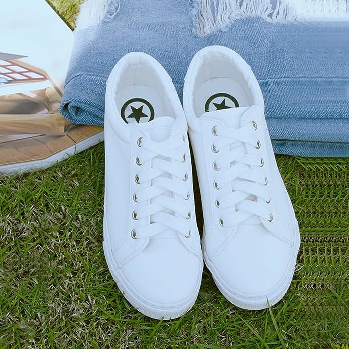 calzado deportivo ocasionales con cordones plana transpirables/ zapatos de Carrefour-blanco Longitud del pie=24.8CM(9.8Inch): Amazon.es: Zapatos y ...