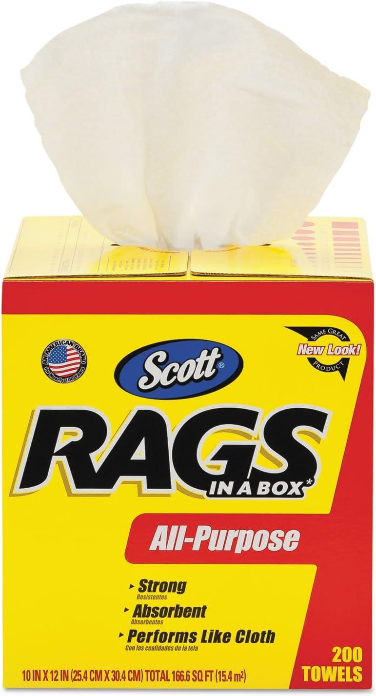 Blanc 200 Shop Serviettes//Box Pack de 8 Scott Rags in a Box 75260