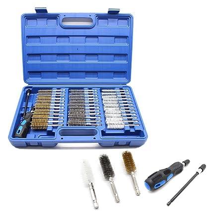 38 piezas Juego de cepillos con vástago hexagonal redonda Kit de  herramientas para la limpieza de a274174b72c2