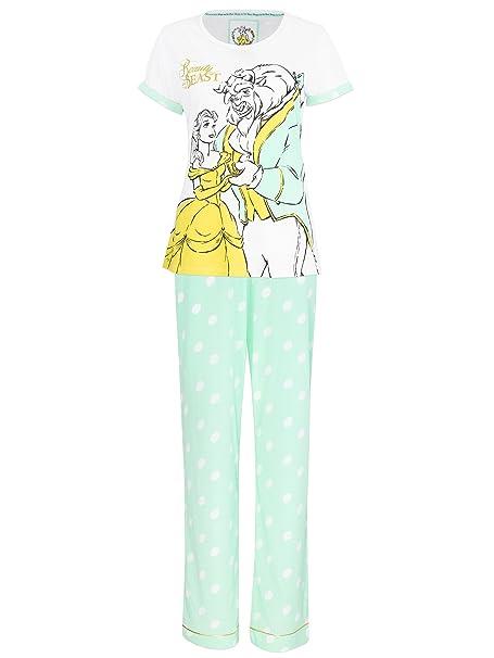 Disney La bella y la Bestia - Pijama para mujer - La Bella y la Bestia