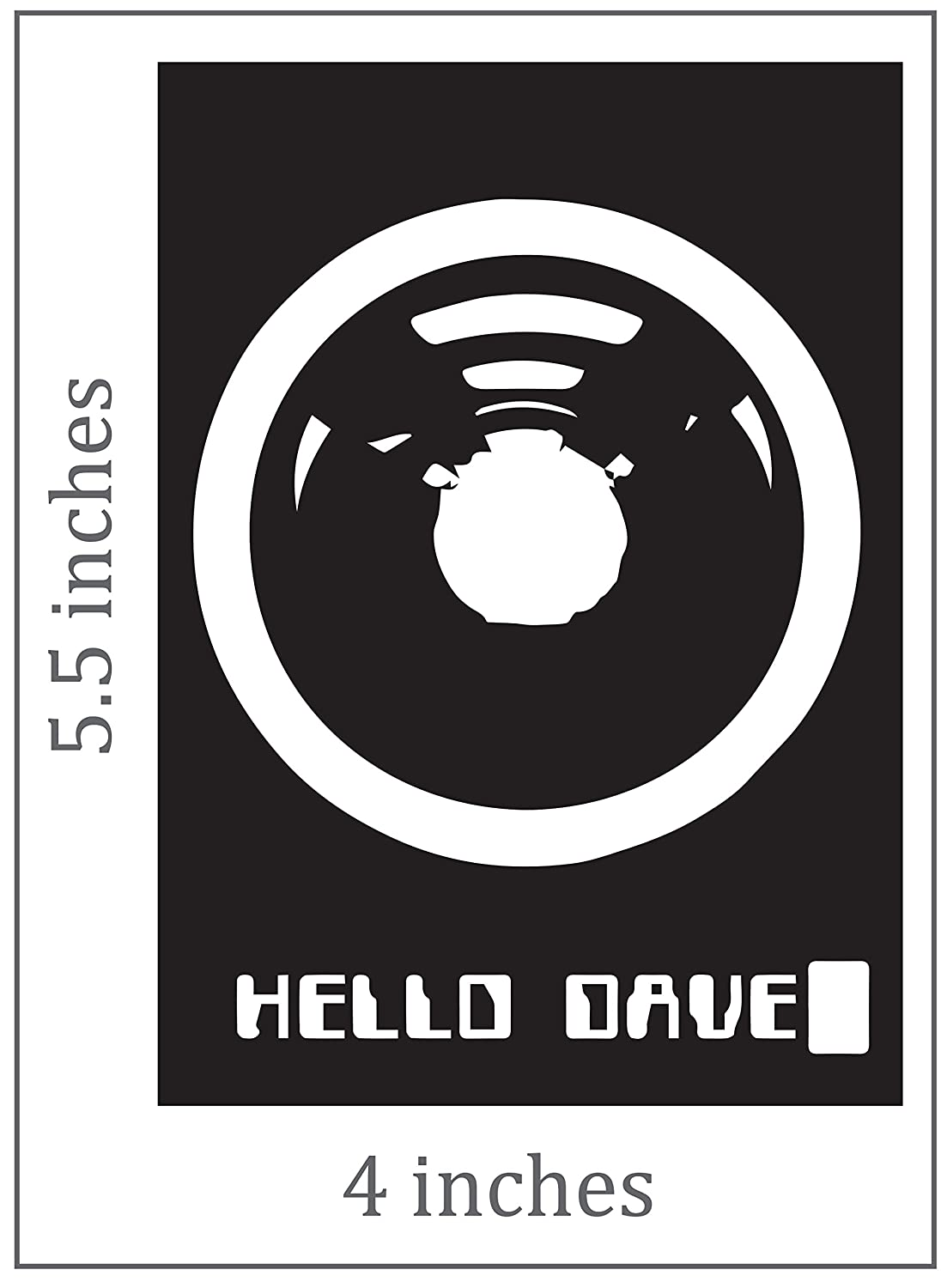 Amazon com hal 9000 stickers vinyl decal 2 pack everything else