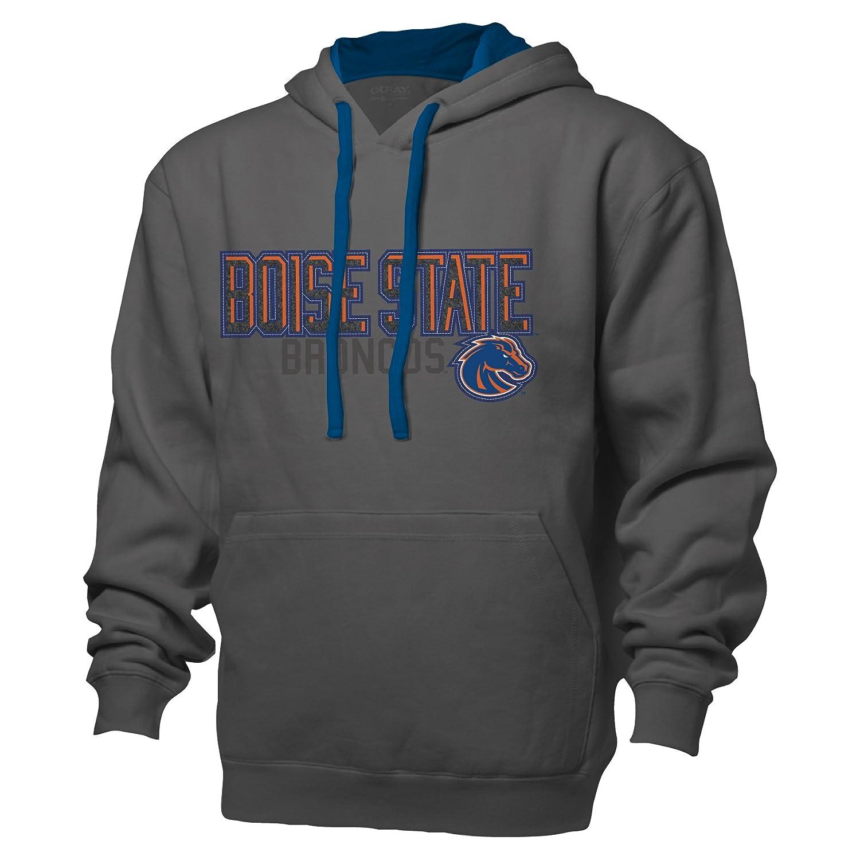 NCAA Boise State Broncos Adult Men Benchmark Color Block Full Zip HoodieXL