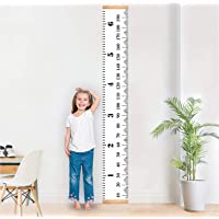 """Baby Growth Chart Handing Ruler Wall Decor for Kids, Canvas Removable Height Growth Chart by Mibote 79"""" x 7.9"""""""