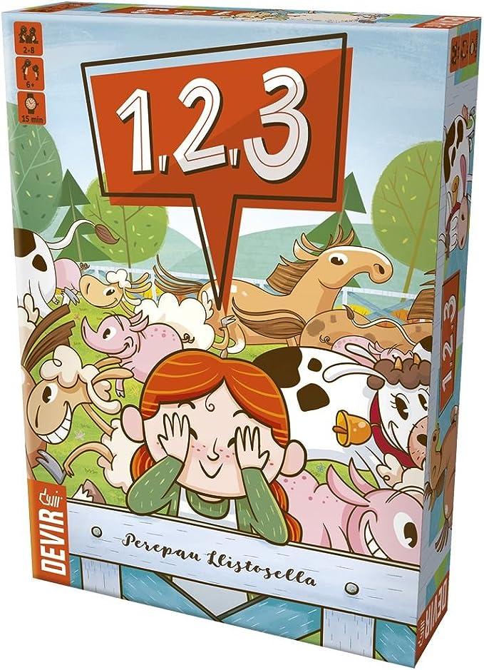 Devir- 1, 2, 3 Juego de Mesa (BG123): Amazon.es: Juguetes y juegos