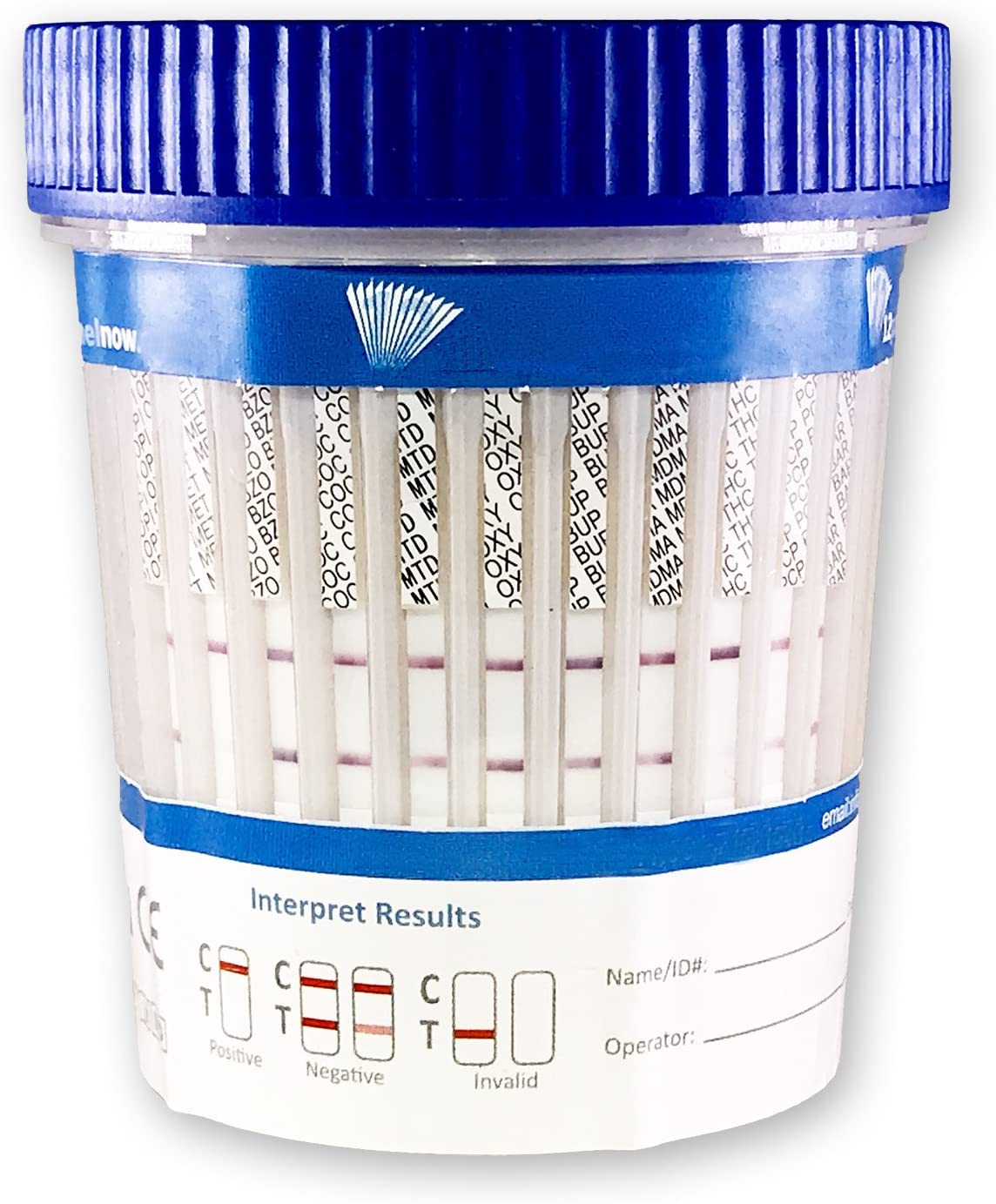 25 CUPS - Urinalysis Kits - 12 Panel Diagnostic Multi Drug Screen Cup | Urine Drug Screening CLIA Waived, AMP, BAR, BUP, BZO, CO, THC, MOP, MTD, MDM, OXY, METH, OPI, MOR (25)