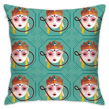 Amazon.com: Chinese Art Tang Sanzang Pillowslip Unique Throw ...