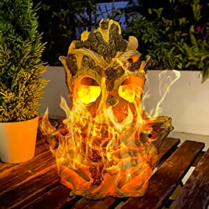 Solar Lanterns Outdoor Tiki Statue Lights Large Solar Powered Flickering Flame Table Light Waterproof Suitable for Deck Yard Porch Garden Patio Pathway Decor