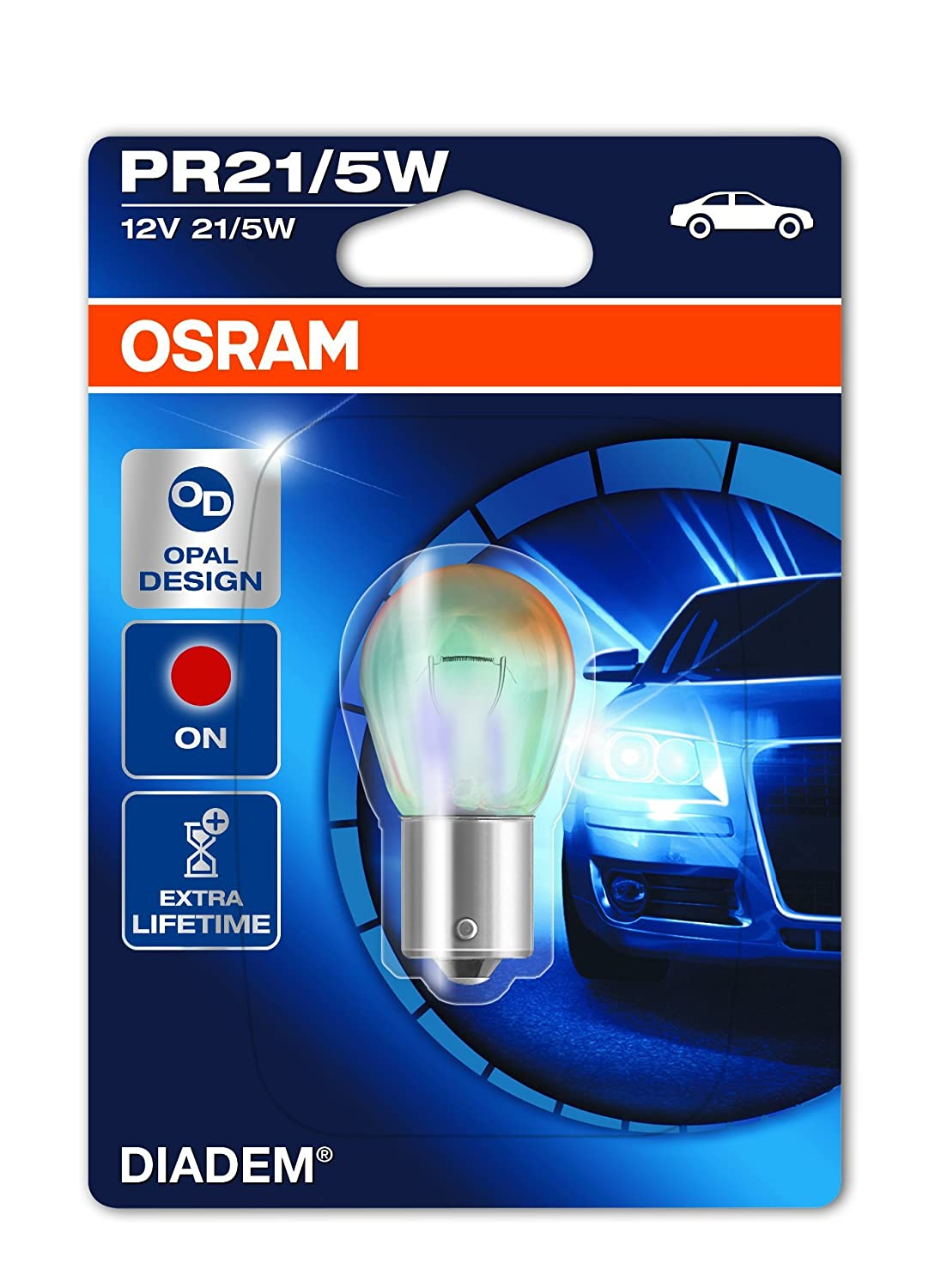 OSRAM DIADEM CHROME Indicator light WY5W 2827DC-02B nearly invisible when turned off in double blister