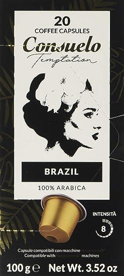 Consuelo - Cápsulas de café de Brasil compatibles con cafetera ...