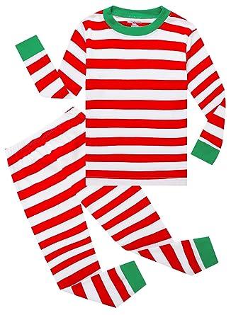 Amazon.com: Family Feeling Striped Boys Girls 2 Piece Christmas ...