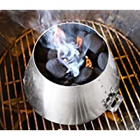 LUTANI BBQ Kettle Grills 22 26.75 WSM - Stainless Steel BBQ Kettle Grill Accessories -Barbecue Charcoal Kettle Accessory (handle)