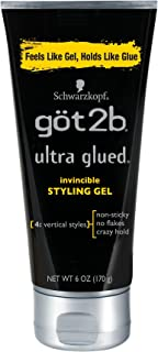 product image for Got2b Ultra Glued Invincible Styling Hair Gel, 6 Ounces (Pack of 2)