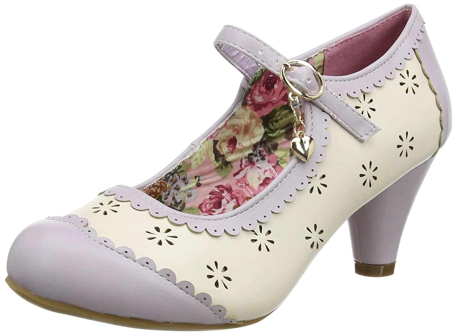 Joe Browns Charming Clara Shoes, Mary Janes Femme Rose (Lilac/Cream A) 37 EU KC029A