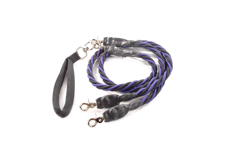 Bungee Pupee 4-Feet Double X-Large Leash, bluee Black