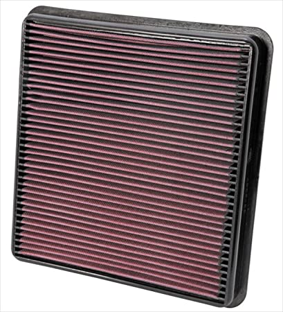 K&N engine air filter, washable and reusable: 2007-2019 Toyota/Lexus V8  Truck and SUV (Land Cruiser, Tundra, Sequoia, LX 570) 33-2387