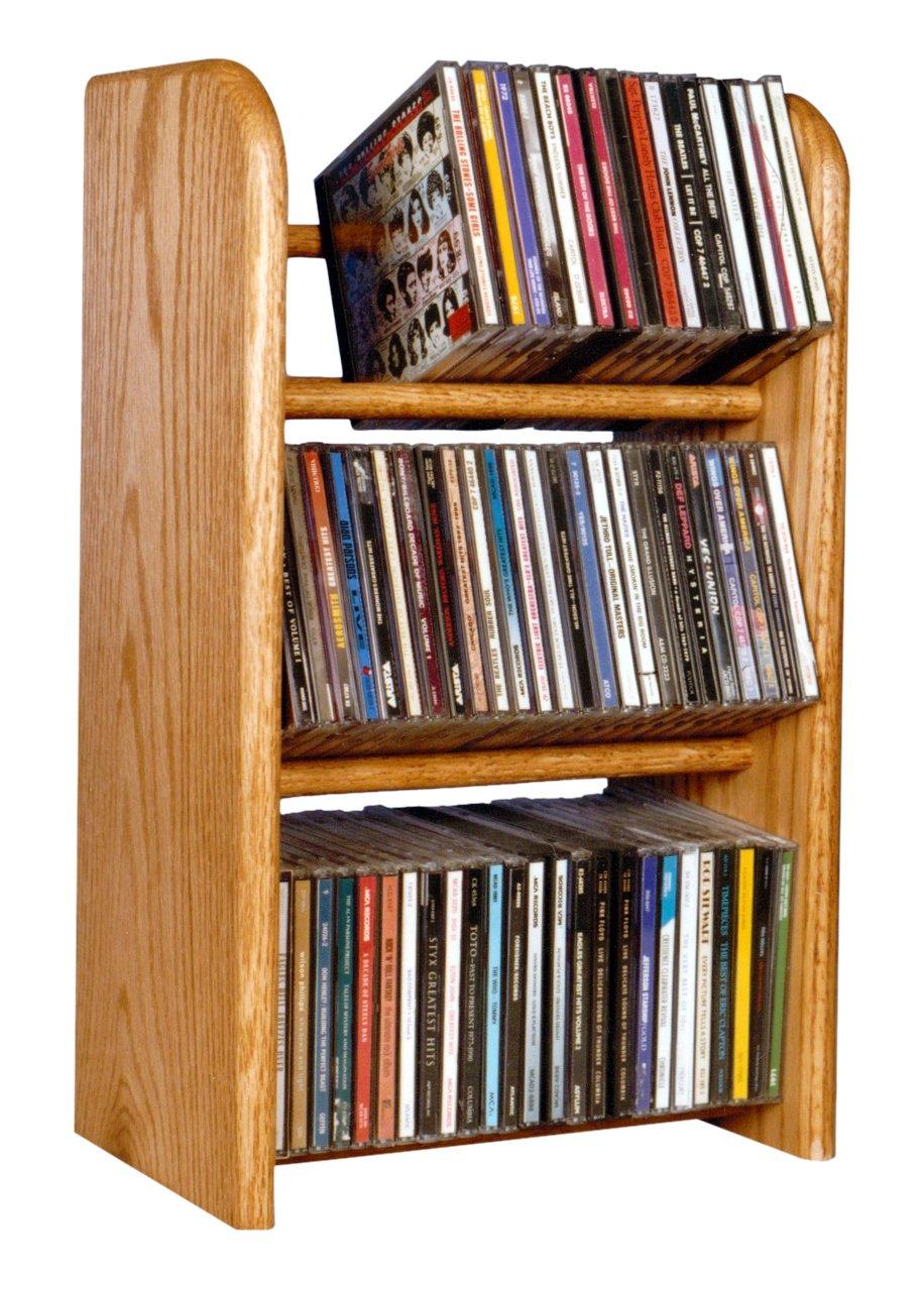 Wood Shed The 304 D Solid Oak CD Rack, Dark