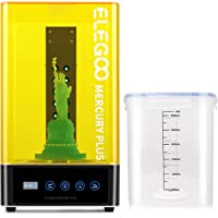 ELEGOO Mercury Plus 2 in 1 Washing and Curing Machine for LCD/DLP/SLA 3D Printed Models Resin UV Curing Box with Rotary…