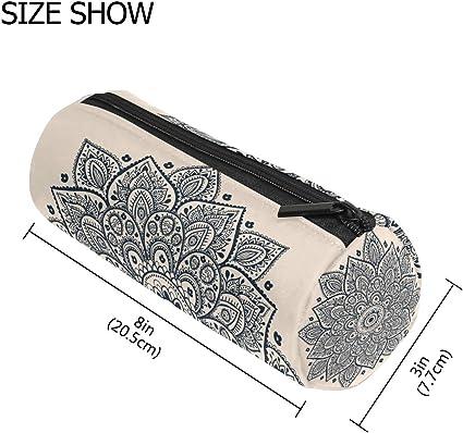 TIZORAX Hippie - Estuche para lápices de mandala con cremallera, organizador de monedas, cosméticos, para mujeres, adolescentes, niñas, niños: Amazon.es: Oficina y papelería