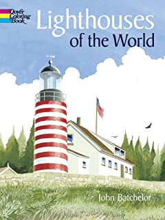 Lighthouses Of The World Dover History Coloring Book