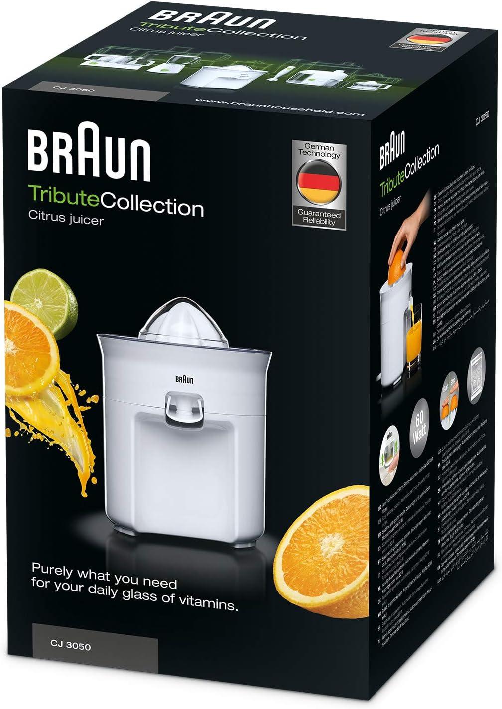 Braun CJ3050 - Exprimidor zumo de naranjas, 60 w, sistema ...