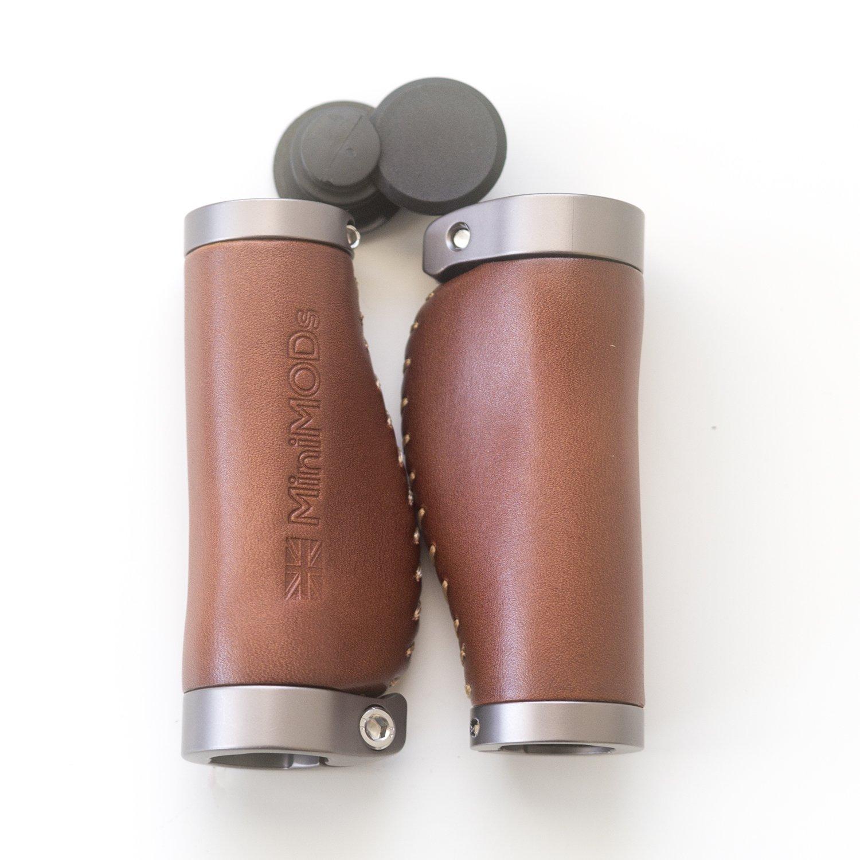MiniMod's - Puñ os cortos de piel italiana, ergonó micos, 106 mm, color marró n ergonómicos color marrón MiniMod' s