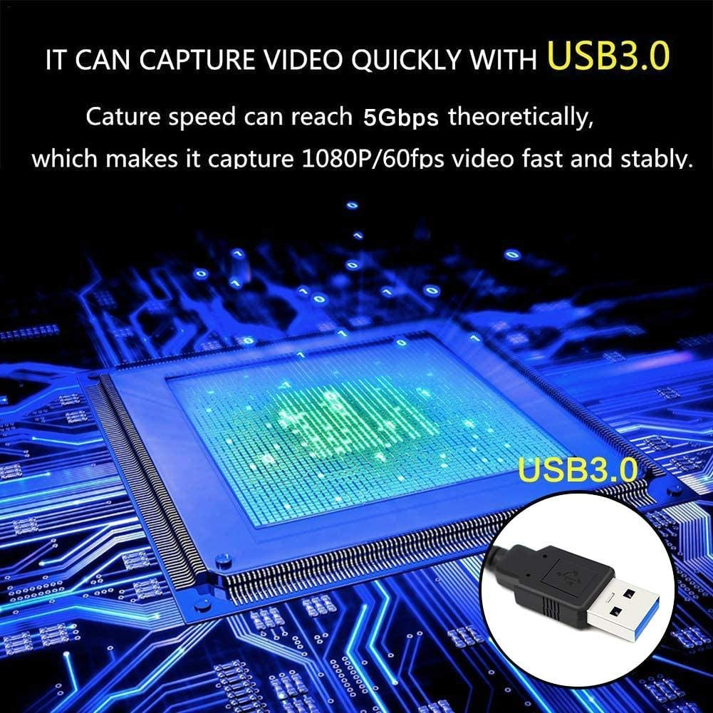 Video Capture Card HDMI to USB 3.0 Game Capture Card Grabber