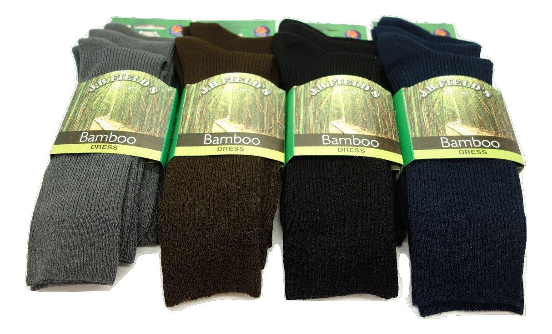 Men's Vagden Plain Rayon from bamboo Dress 3PK socks (Black)8-12