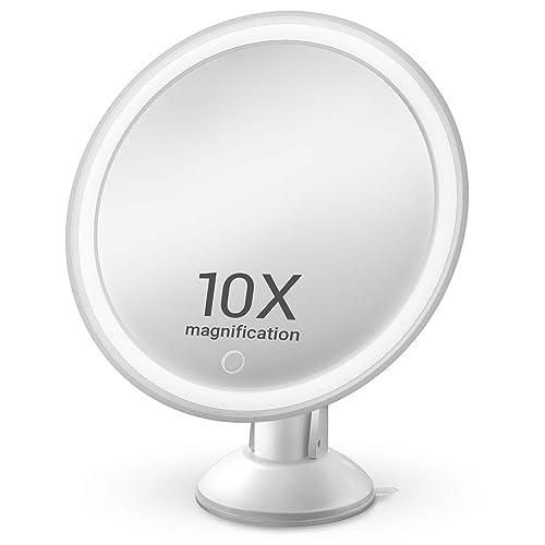 Lighted Makeup Mirror-10X Magnifying Makeup Mirror