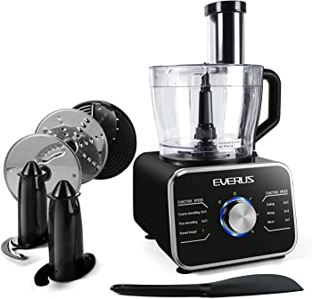 EVERUS 12 Cups Multifunctional 600W Food Processor With LED Lights