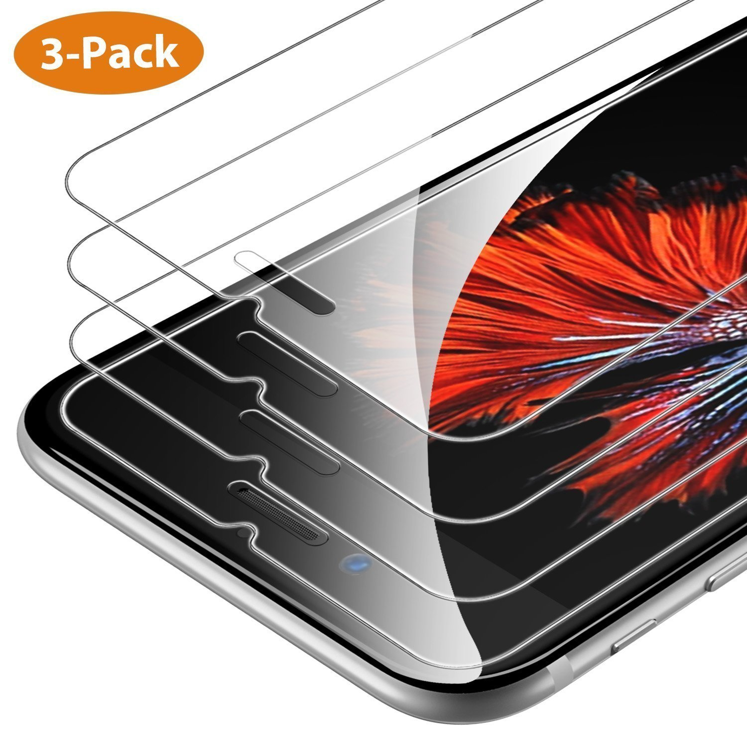 ... iPhone 6s Plus / 6 Plus 3-Pack HD 9H de dureza 2.5D Cristal Templado para 5.5