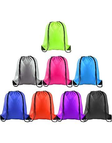 c385385050 FEPITO 8-15 Pack Drawstring Backpack Bag Sackpack Cinch Tote Sports String  Backpack Gym Bags
