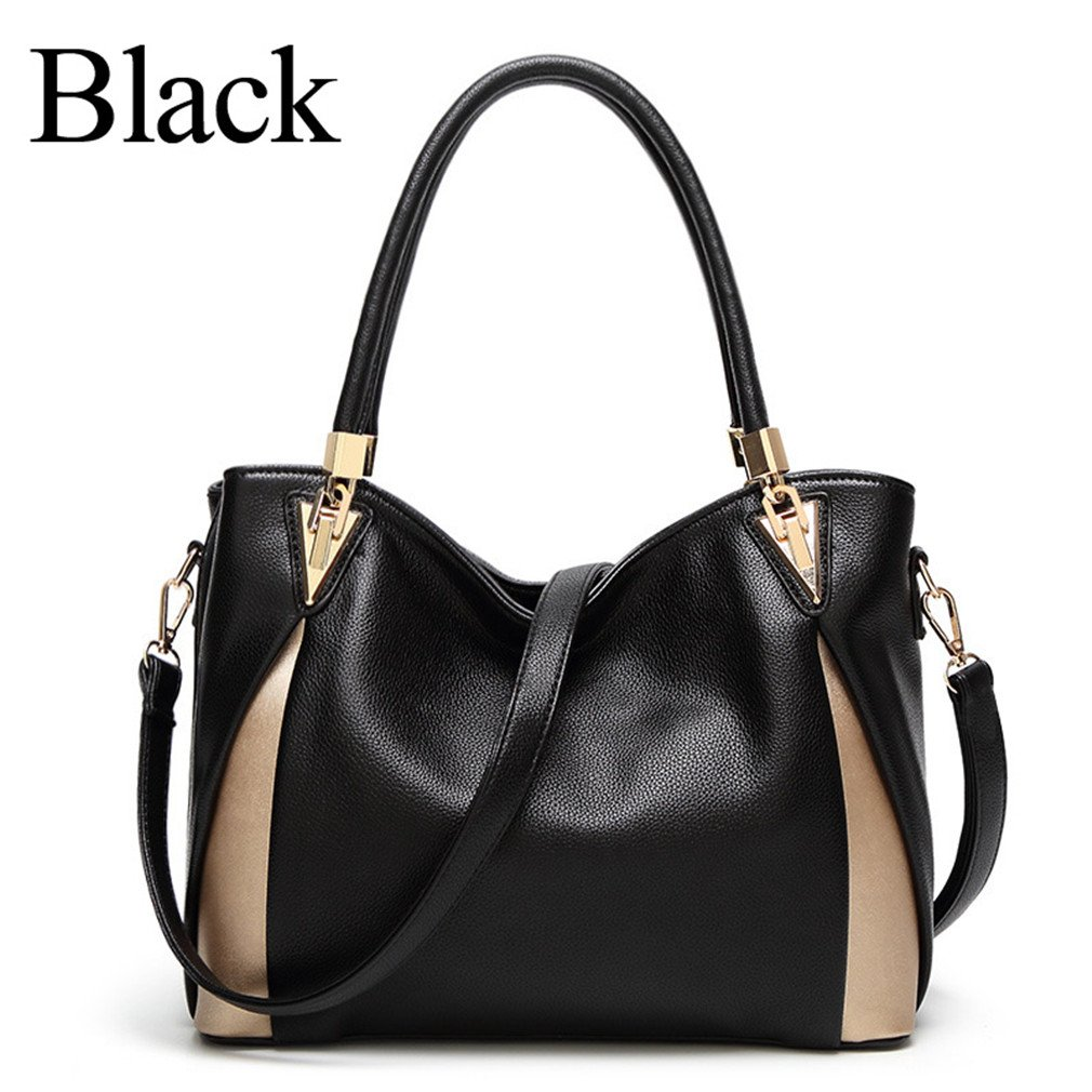 Chic-Dona Bags For Women Handbags Women Bags Shoulder Hand Bag Tote Leather Handbag Black About 31cm 13cm 25cm