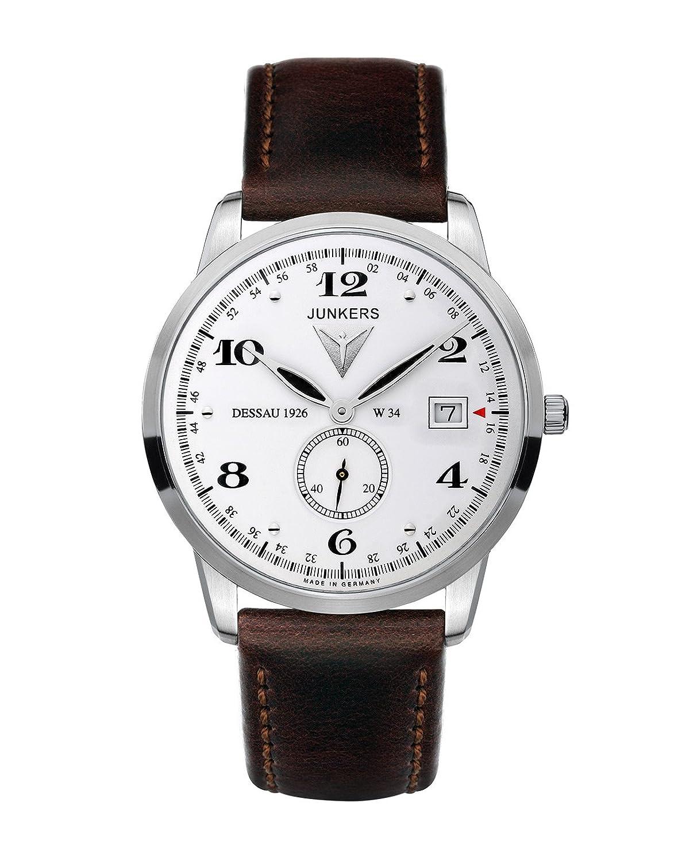 Junkers Herren-Armbanduhr XL FlatLine Analog Quarz Leder 63341