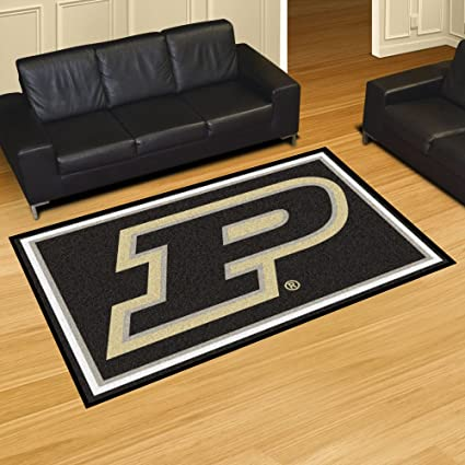 Amazon Com Purdue P Rug 5x8 60 X92 Sports Outdoors